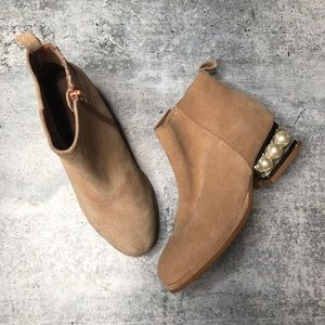 Jeffrey Campbell Orlando Faux Pearl Booties